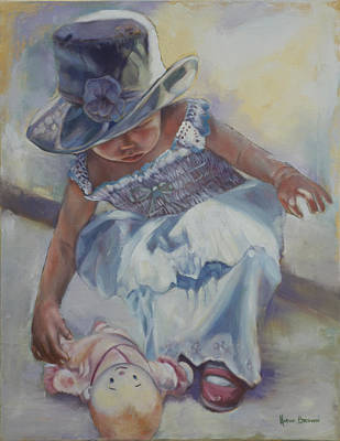 Painting - The Doll by Harvie Brown