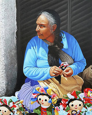 Painting - The Doll Maker From Cabo by Vic Ritchey