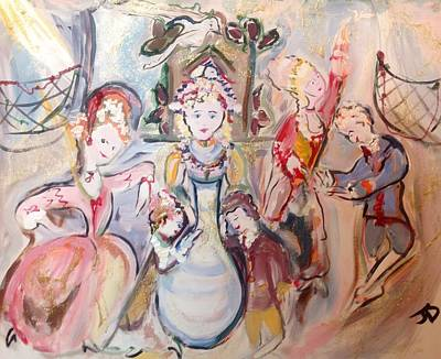 Cuckoo Painting - The Dolls Decorate The Toy Factory  by Judith Desrosiers