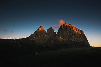 Sunrise Photograph - The Dolomites, Italy by Happy Home Artistry