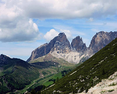 Photograph - The Dolomites by Liz Alderdice