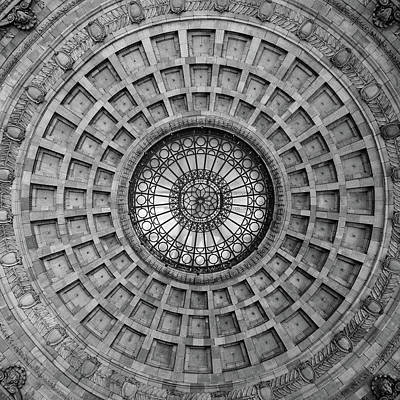 Photograph - The Dome Bw  by Emmanuel Panagiotakis