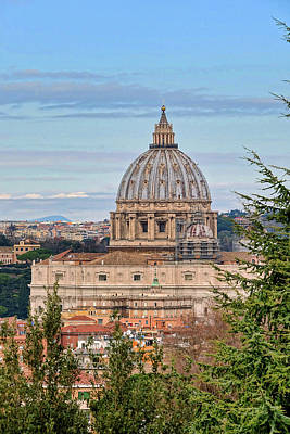 Photograph - The Dome Of St. Peters Basilica In Rome Italy by Richard Rosenshein