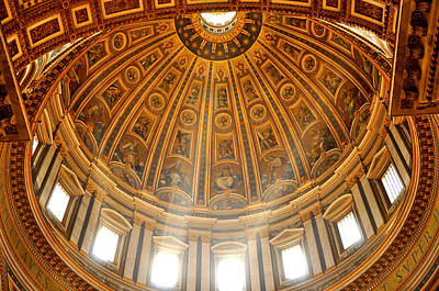 Photograph - The Dome Of St. Peter's Cathedral by Andrew Dinh