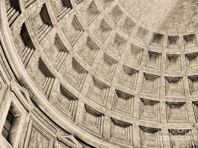 Art Print featuring the photograph The Dome Of The Pantheon by Nigel Fletcher-Jones
