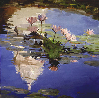 Painting - The Dome - Water Lilies by Betty Jean Billups