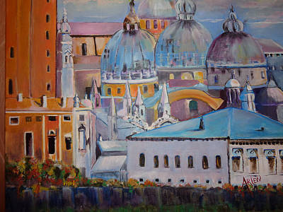 Painting - The Domes In Italy by Arlen Avernian Thorensen