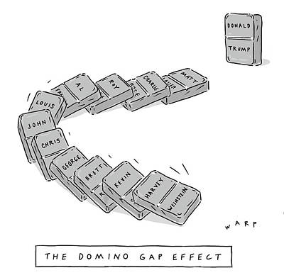 Drawing - The Domino Gap Effect by Kim Warp