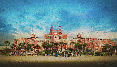 Architecture Mixed Media - The Don Cesar Resort by Marvin Spates