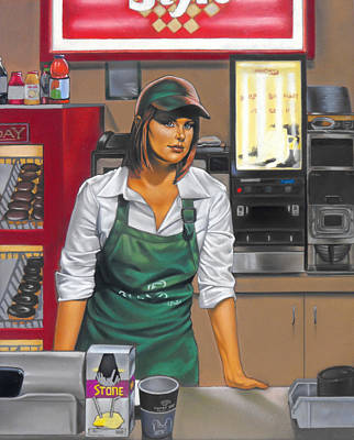 Donuts Painting - The Donut Shop by Glenn Bernabe