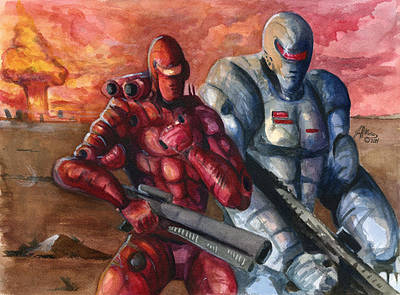 Post Apocalyptic Painting - The Doomsday Squad by Age Of Warbotica