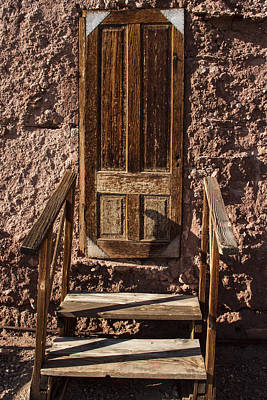 Blue Hues - The Door at the Head of the Stairs by Guy Shultz