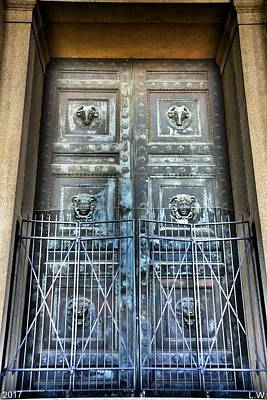 Photograph - The Door At The Parthenon In Nashville Tennessee by Lisa Wooten