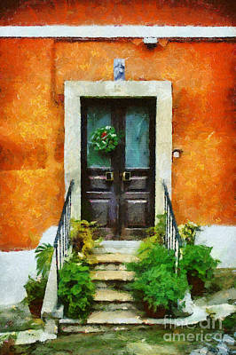 Painting - The Door by Dimitar Hristov