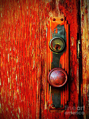 Painted Photograph - The Door Handle  by Tara Turner