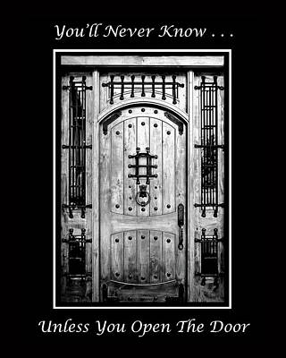 Photograph - The Door by Joni Eskridge