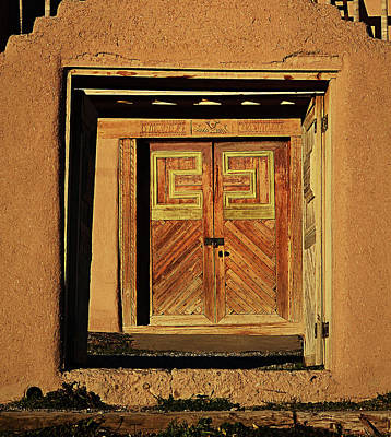 Photograph - The Door Of San Jose De Gracia by Nadalyn Larsen