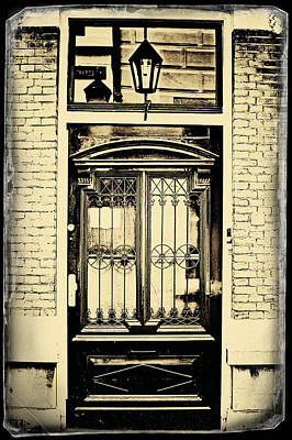 Photograph - The Door. Old Cards From Amsterdam by Jenny Rainbow