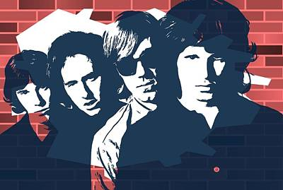 The Doors Graffiti Tribute Art Print by Dan Sproul