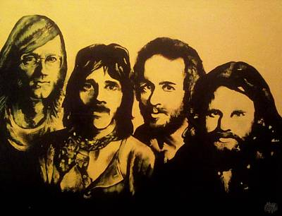 The Sixties Drawing - The Doors L.a Woman by Sam Hane