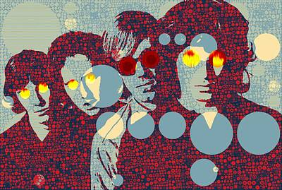 Music Mixed Media - The Doors Light My Fire by Dan Sproul