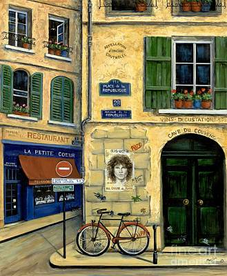 European Street Scene Painting - The Doors by Marilyn Dunlap