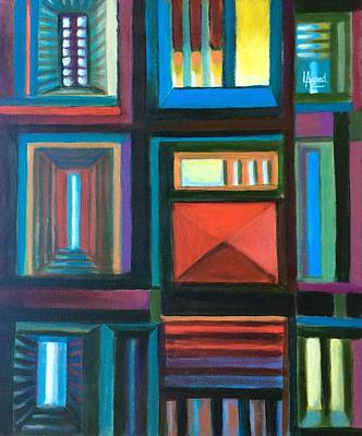 Painting - The Doors Of Hope  by Laila Awad Jamaleldin