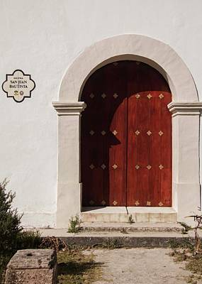 Photograph - The Doors Of San Juan The Baptist - 2 by Hany J