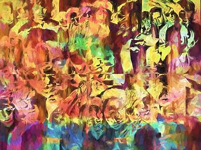 Music Paintings - The Doors Psychedelic Tribute by Dan Sproul