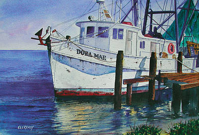 Shrimper Painting - The Dora Mae by Chuck Creasy