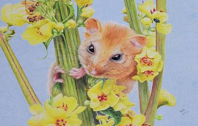 Hamster Painting - The Dormouse by Biophilic Art
