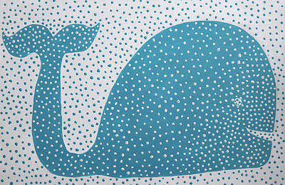 Painting - The Dotted Whale by Deborah Boyd