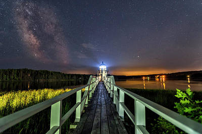 Photograph - The Doubling Point Lighthouse by Mark Papke