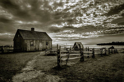 Photograph - The Doucet House - Bw by Chris Bordeleau