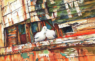 Painting - The Dove Boat by Peter Williams