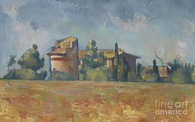 Corn Painting - The Dovecote At Bellevue by Paul Cezanne