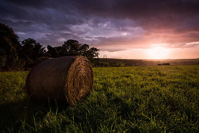 Bale Photograph - The Downs by Ian Hufton