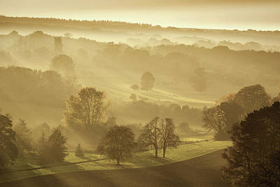 Autumn Landscape Photograph - The Downs In Autumn by Ian Hufton