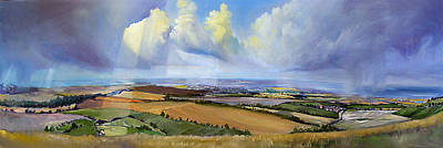 Sports Paintings - Dunstable Downs by Mark Robinson