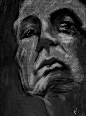 The Downward Gaze Art Print