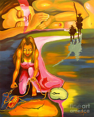 Don Quijote Painting - The D.q. Within Bella by Milagros Palmieri