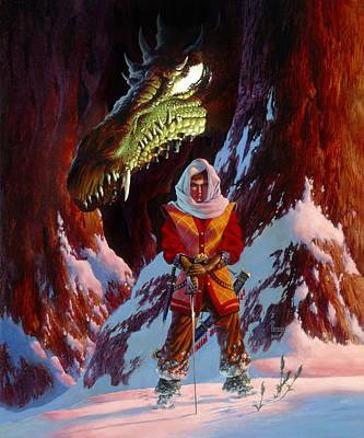 The Dragon In Winter Art Print