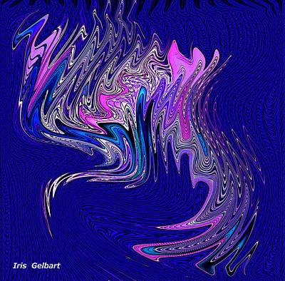 Digital Art - The Dragon by Iris Gelbart