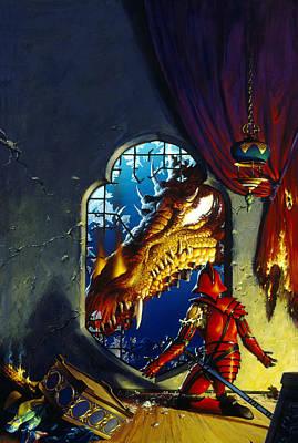 Atlantis Painting - The Dragon Lord by Richard Hescox