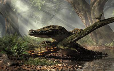 Alligator Digital Art - The Dragon Of Brno by Daniel Eskridge