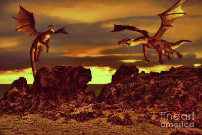 Mixed Media - The Dragons by Olga Hamilton