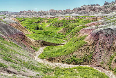 Photograph - The Drama Of The Badlands by John M Bailey