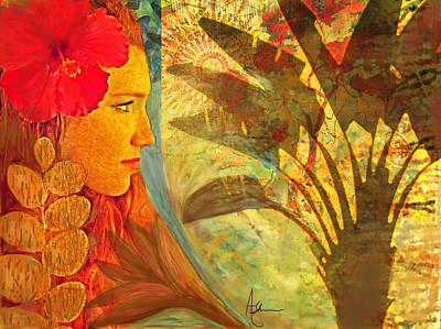 Brown Toned Art Mixed Media - The Dream by Alise Sheehan