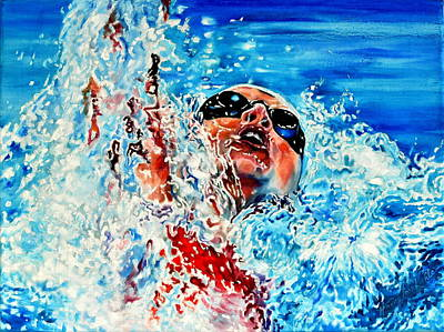 Action Sports Art Painting - The Dream Becomes Reality by Hanne Lore Koehler