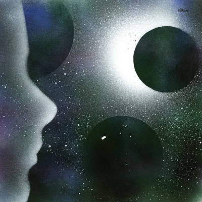 Painting - The Dream Of Space by Hakon Soreide